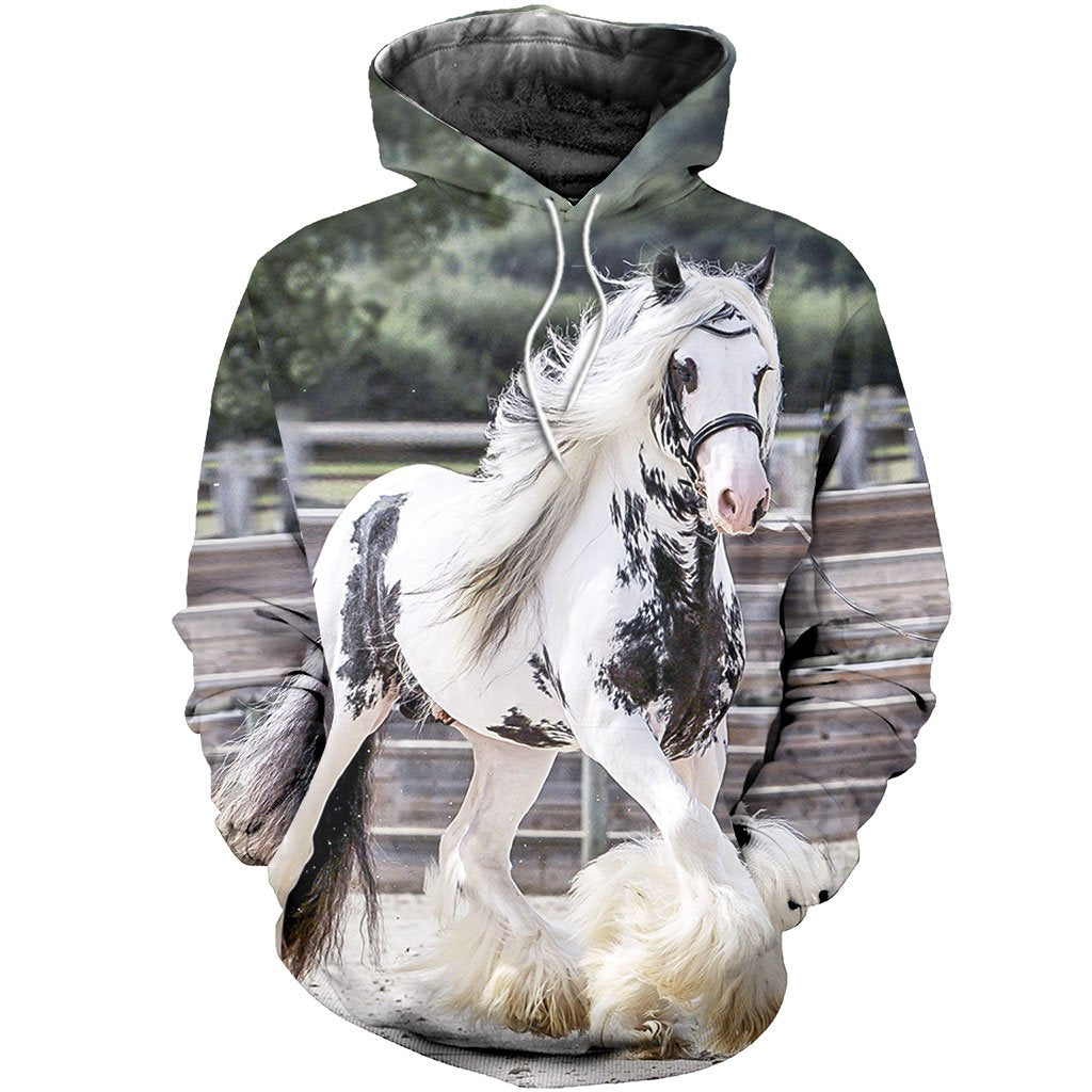 3D All Over Printed Friesian Horse Shirts And Shorts STLL261101