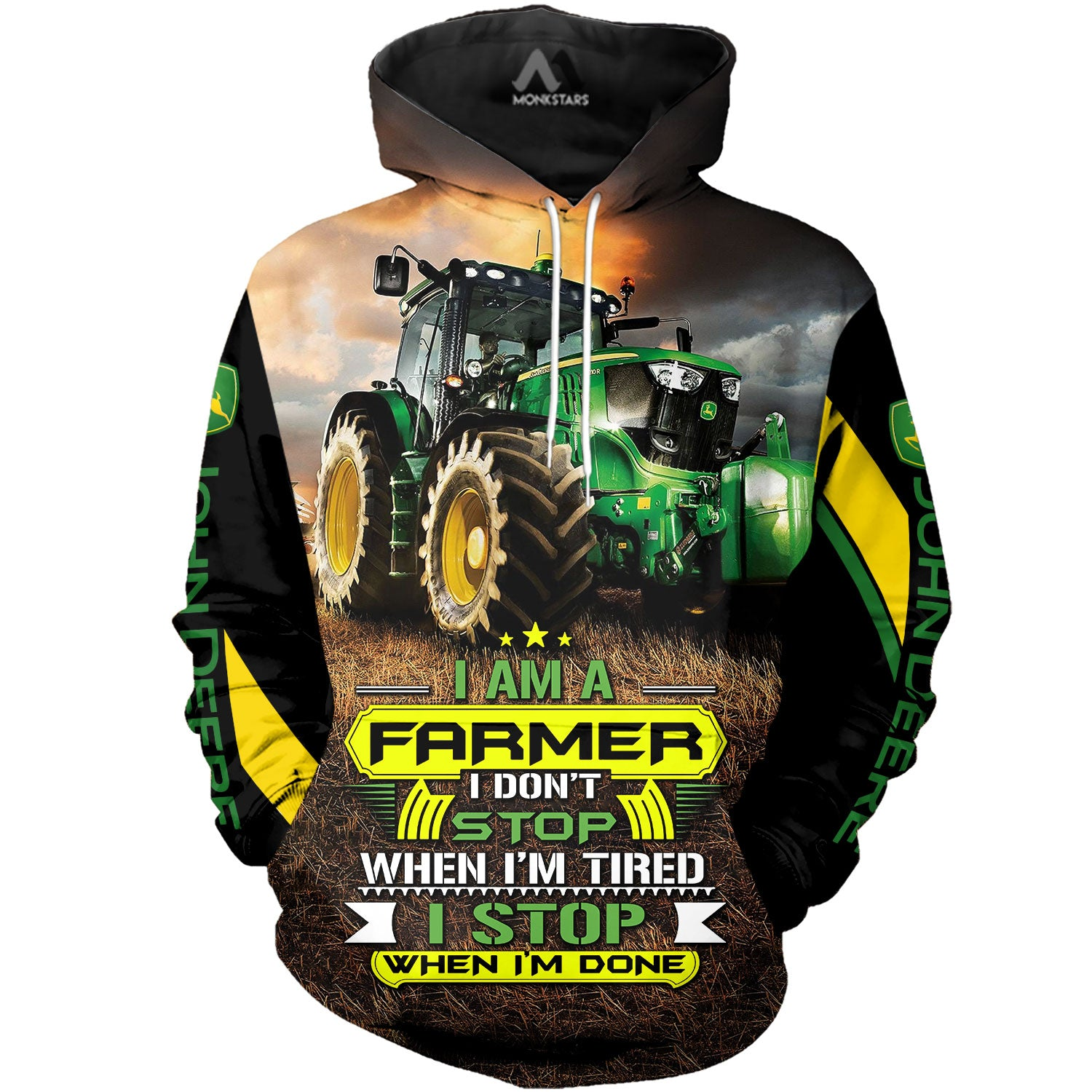 JD Tractor Art 3D All Over Printed Shirts For Men & Women