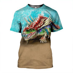 3D All Over Printed Gorgosuchus Shirts and Shorts