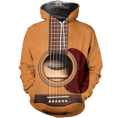 3D All Over Printed Acoustic Guitar Shirts And Shorts