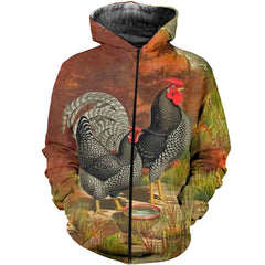 3D All Over Printed Chicken Shirts And Shorts