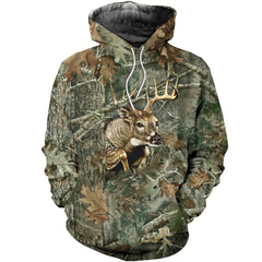 3D All Over Printed Deer Hunting Camo Shirts And Shorts