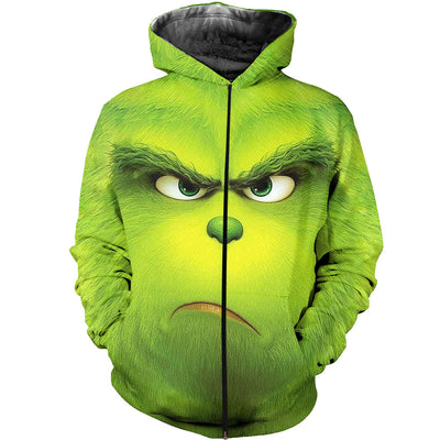 3D All Over Printed Grinch Face Shirts And Shorts
