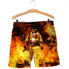 3D All Over Printed Firefighter Not for the Weak Shirts And Shorts