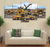 5-piece Heavy equipment  printed Canvas Wall Art