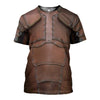 3D All Over Printed Leather Armor T-shirt Hoodie