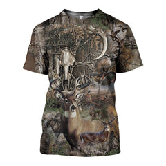 3D All Over Printed Camo Hunting Art Shirts and Shorts