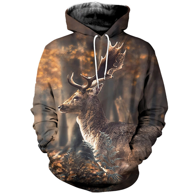3D printed Deer Wild Nature T-shirt Hoodie SCTK050407
