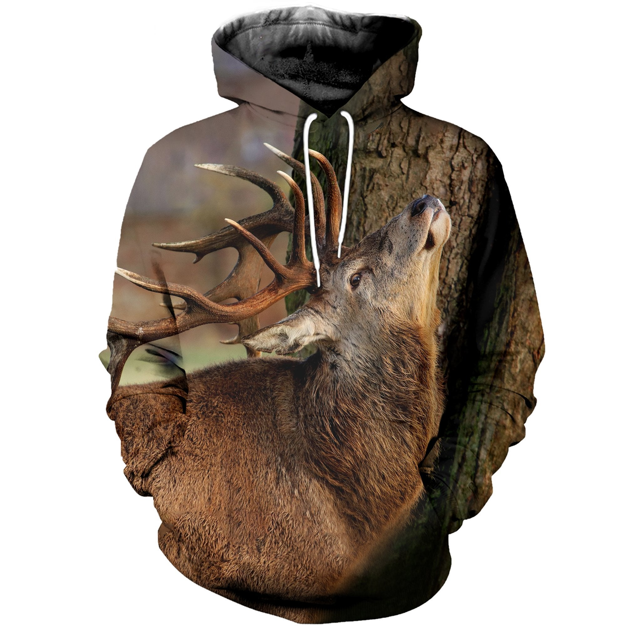 3D printed Deer and Tree T-shirt Hoodie SCTK100421