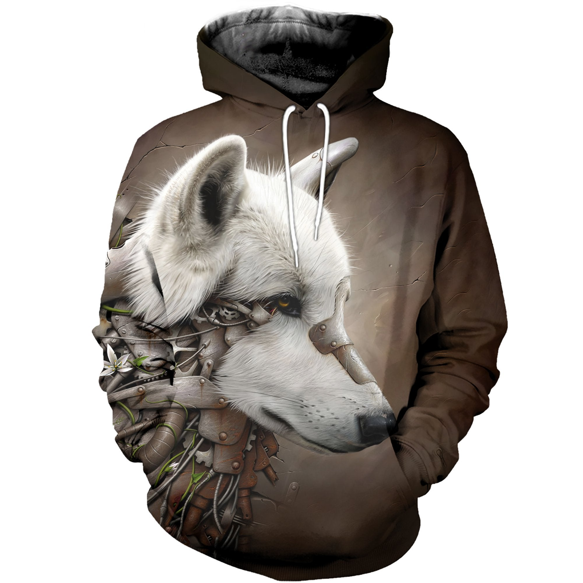 3D printed White Wolf T-shirt Hoodie SCTM300314