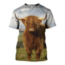 3D printed Gorgeous highland cattle T-shirt Hoodie ADAL160414 - gopowear.com