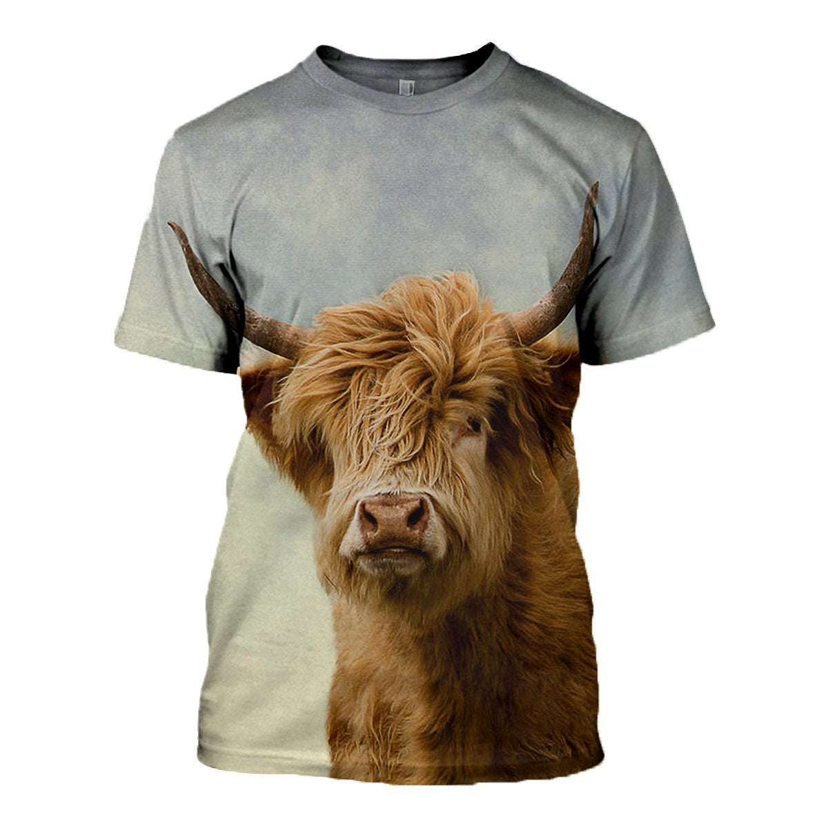 3D printed Hairy Highland Cattle T-shirt Hoodie ADGK300305