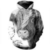 3D printed Highland Cow T-shirt Hoodie