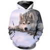 3D printed Sad Husky At Sunset  T-shirt Hoodie ADAK130405
