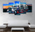 5-piece Truck printed Canvas Wall Art