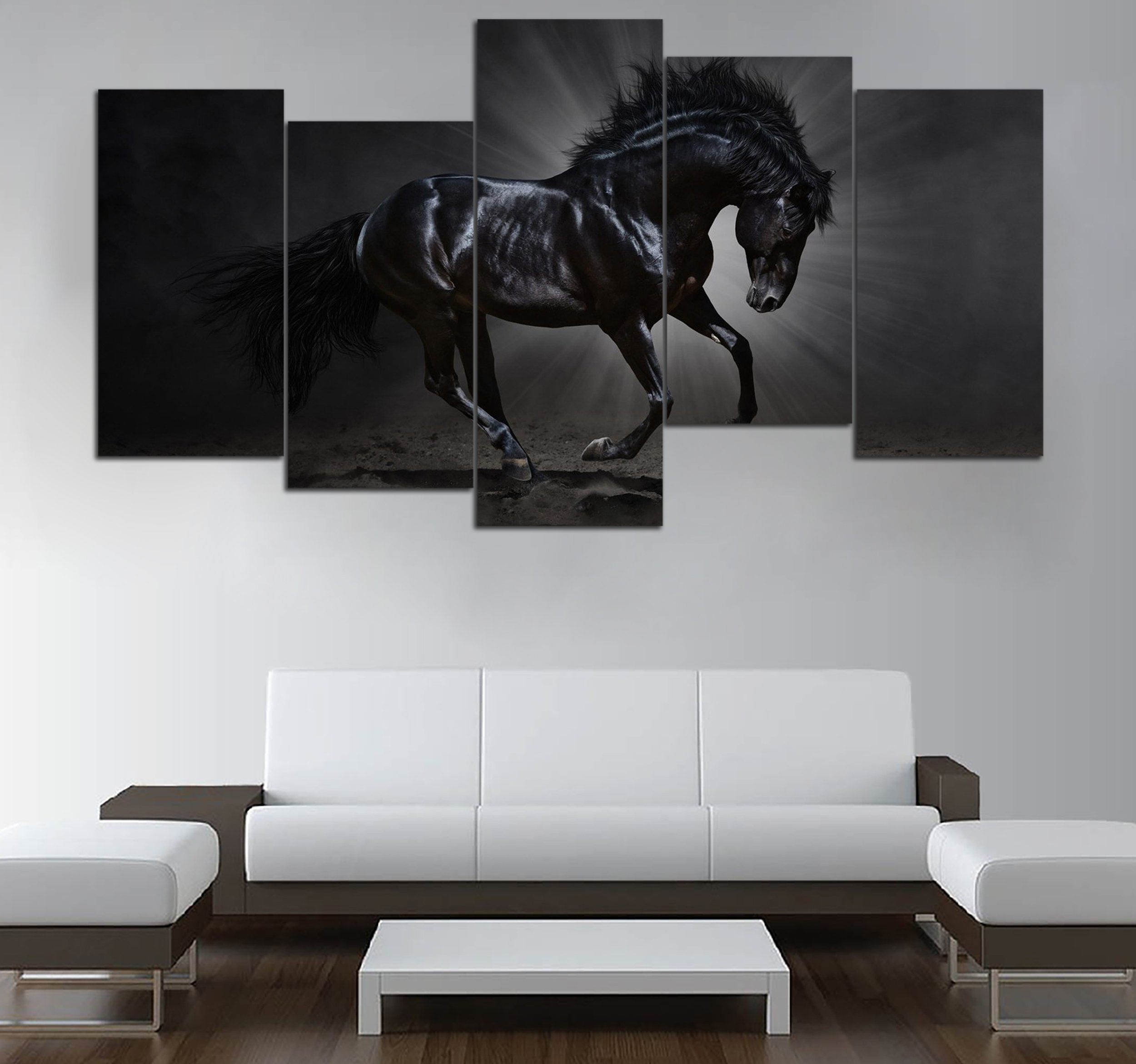 5-piece Love Horse printed Canvas Wall Art Mode 51 GTM390305