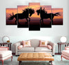 5-piece Horse Couple printed Canvas Wall Art GTM390308