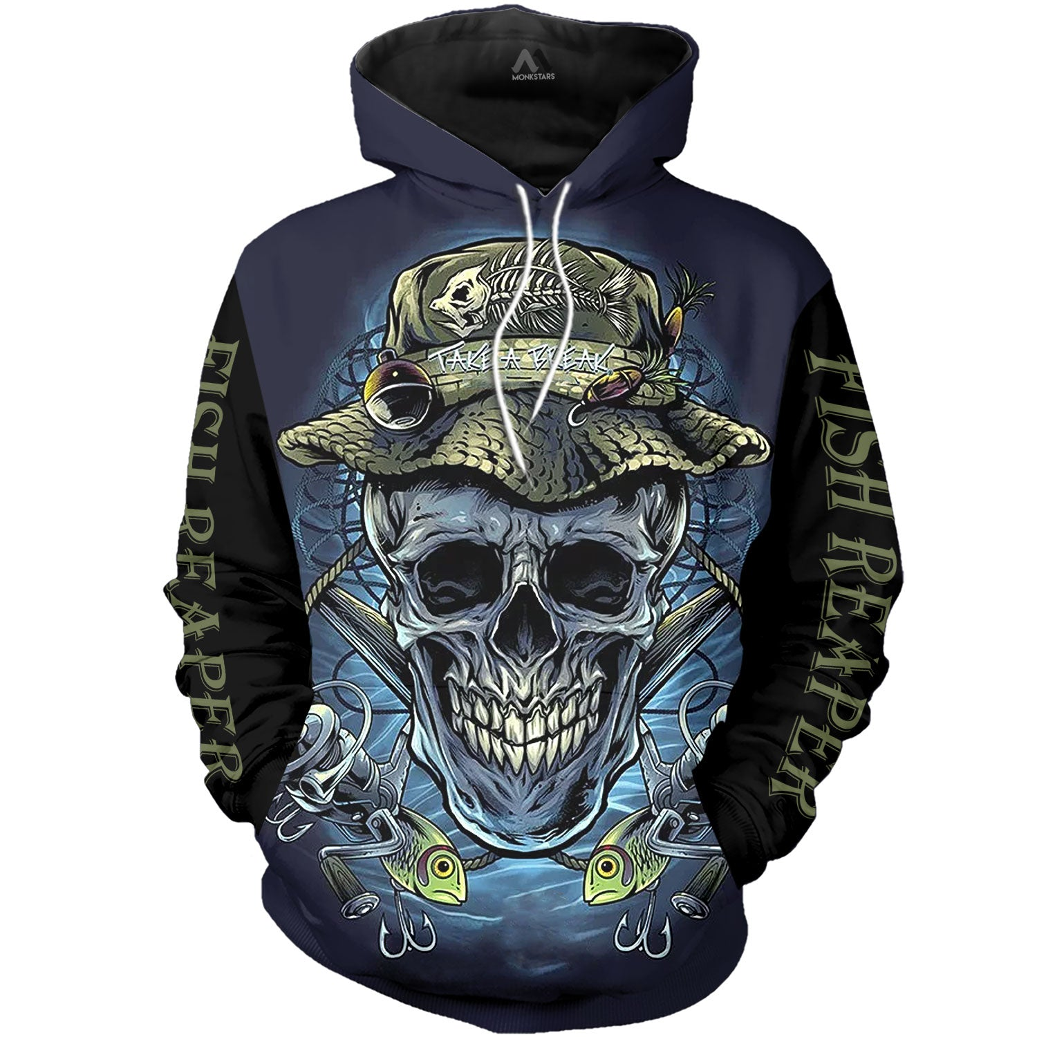 Skull Fisherman 3D All Over Printed Shirts For Men & Women