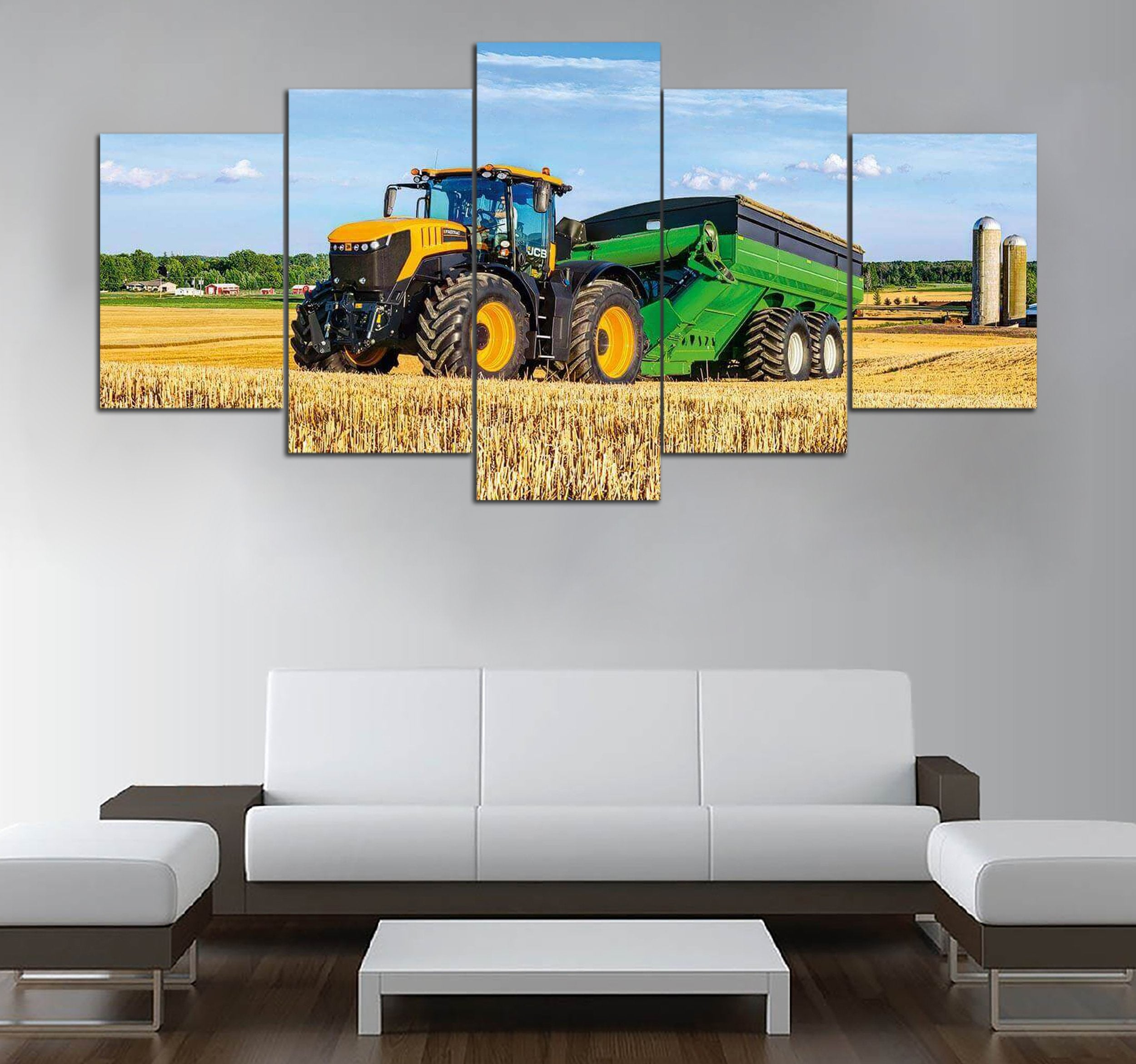 5-piece Tractor-Agriculture printed Canvas Wall Art
