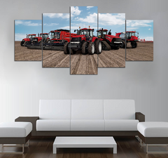 5-piece  Tractor printed Canvas Wall Art STAM130407
