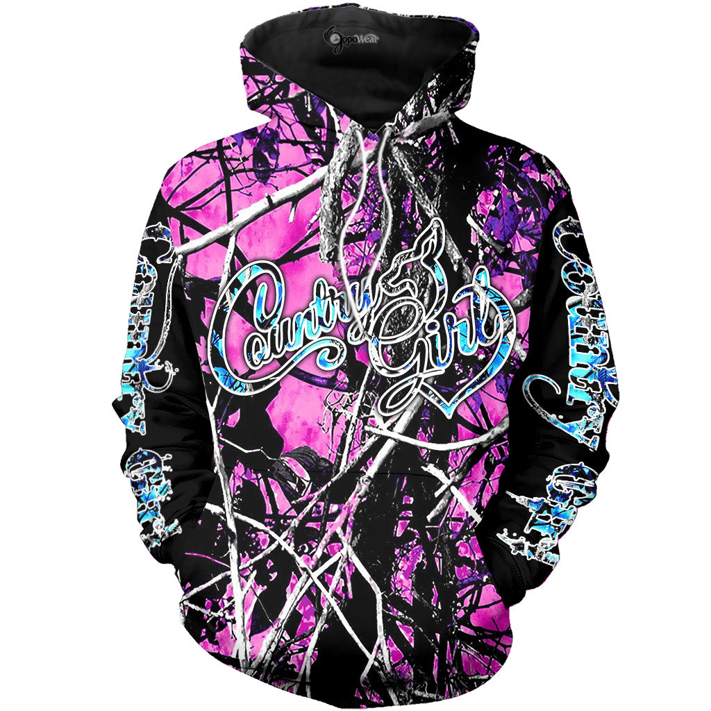 Magenta Country Girl Deer Love 3D All Over Printed Shirts For Men & Women