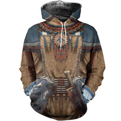 3D All Over Printed Native American Clothes Shirts and Shorts