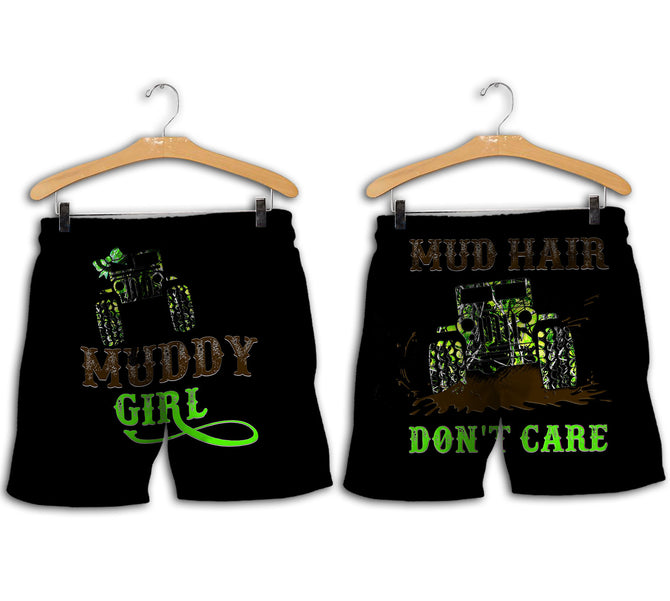 65db523e62740 Mud Hair Don't Care Jeep Version Green Camo 3D All Over Printed Shirts For