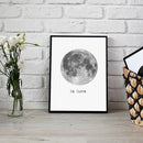 Moon La Lune Art Canvas Painting Wall Pictures - gopowear.com