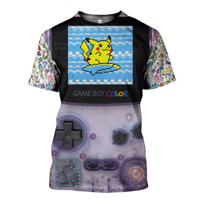 3D All Over Printed Pokemon Gameboy Shirts and Shorts