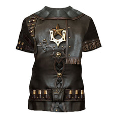 3D All Over Printed Cowboy Armor Shirts and Shorts