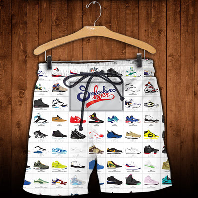 3D All Over Printed A Visual Compendium Of Sneakers  Shirts and Shorts - gopowear.com