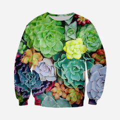 3D All Over Printed Colorful Succulent Shirts and Shorts