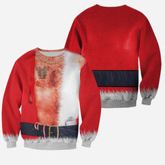 3D All Over Printed Hairy Chest Ugly Christmas Shirts and Shorts