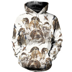 3D All Over Printed German Shorthaired Pointer Shirts And Shorts