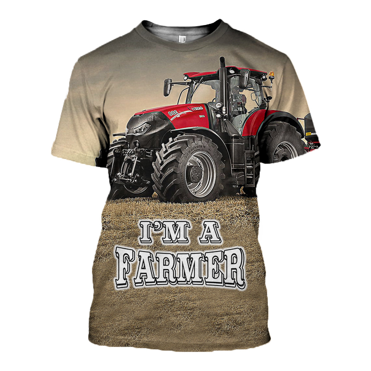 3D All Over Printed Tractor case IH optum 300 cvx T-shirt Hoodie SNTL110404