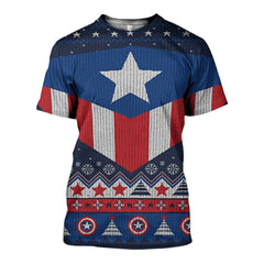 3D All Over Printed Ugly Sweater Captain Shirts and Shorts - gopowear.com