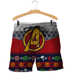 3D All Over Printed Ugly Sweater Avenger Shirts and Shorts - gopowear.com