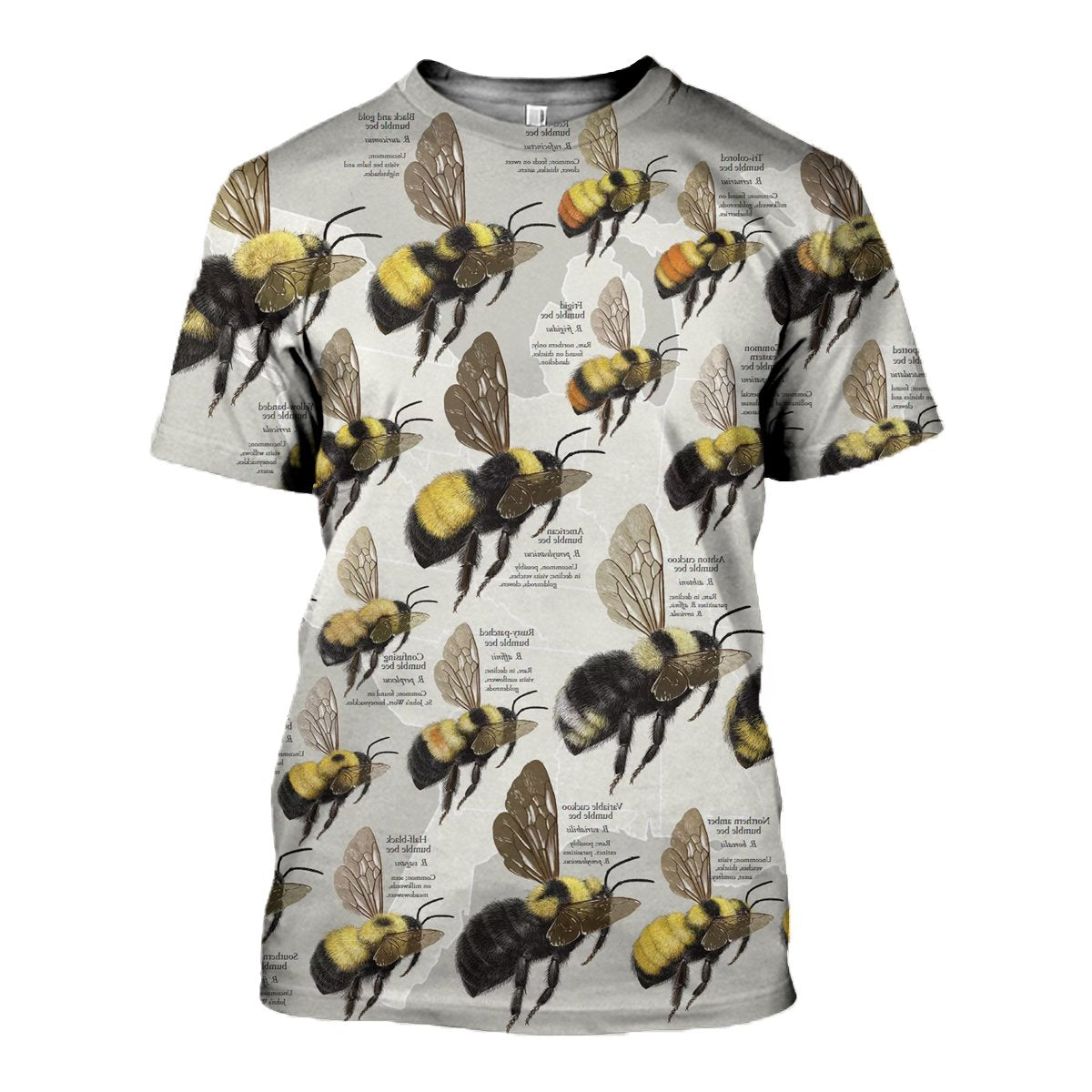 3D All Over Printed Bumble Bees Shirts and Shorts - gopowear.com