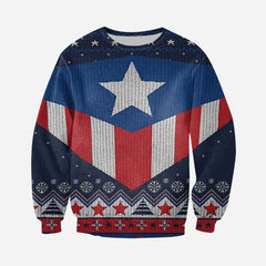 3D All Over Printed Ugly Sweater Captain Shirts and Shorts