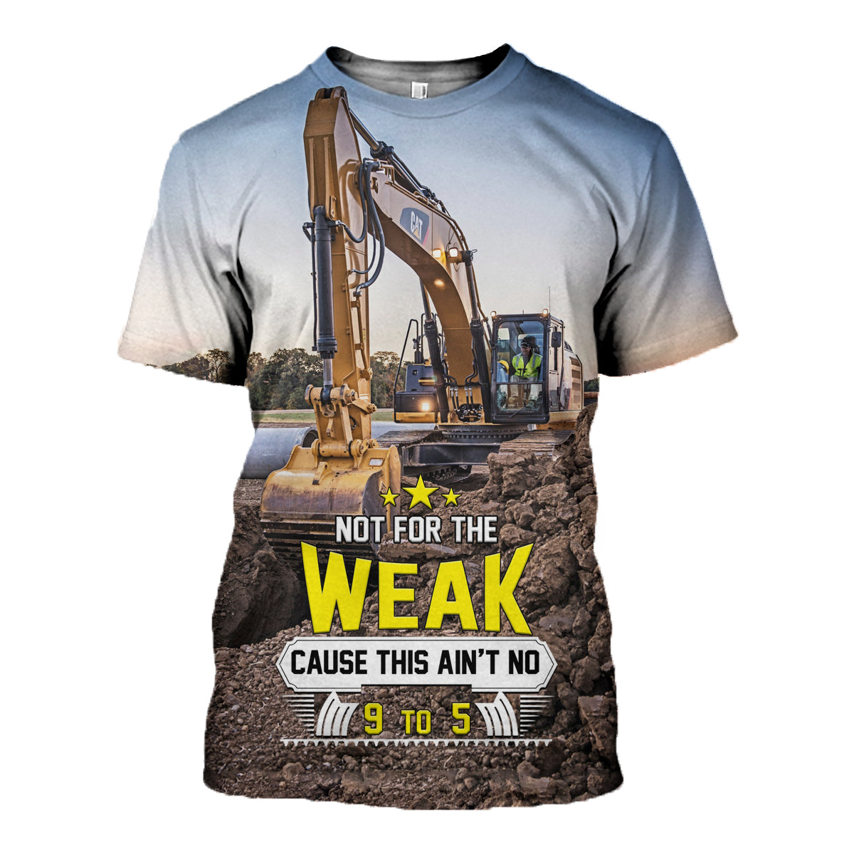 3D All Over Printed Cool Excavator Shirts and Shorts - gopowear.com
