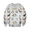 3D All Over Printed Breeds Of Duck Shirts and Shorts