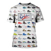 3D All Over Printed A Visual Compendium Of Sneakers Shirts and Shorts