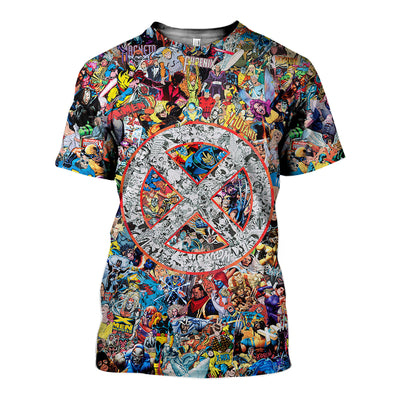 3D All Over Printed X-Men Comic Shirts and Shorts - gopowear.com