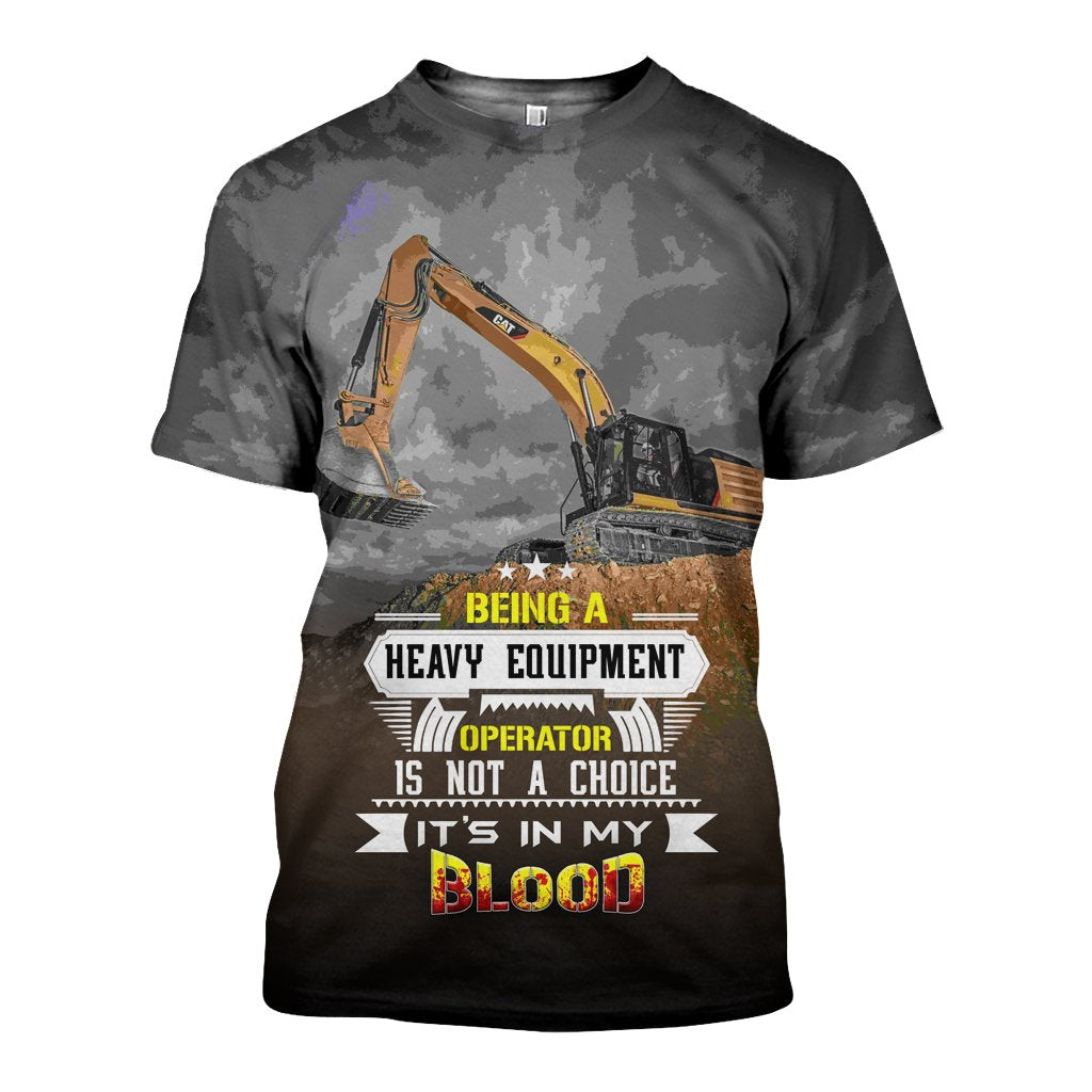 3D All Over Printed CAT Excavator Shirts and Shorts