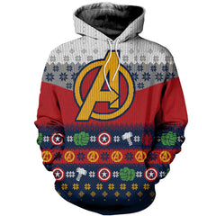 3D All Over Printed Ugly Sweater Avenger Shirts and Shorts