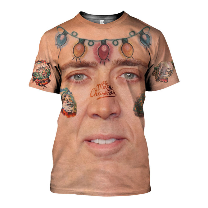 d4eacd5000bd8 3D All Over Printed The Giant Blown Up Face Of Nicolas Cage Shirts And  Shorts SATK061006