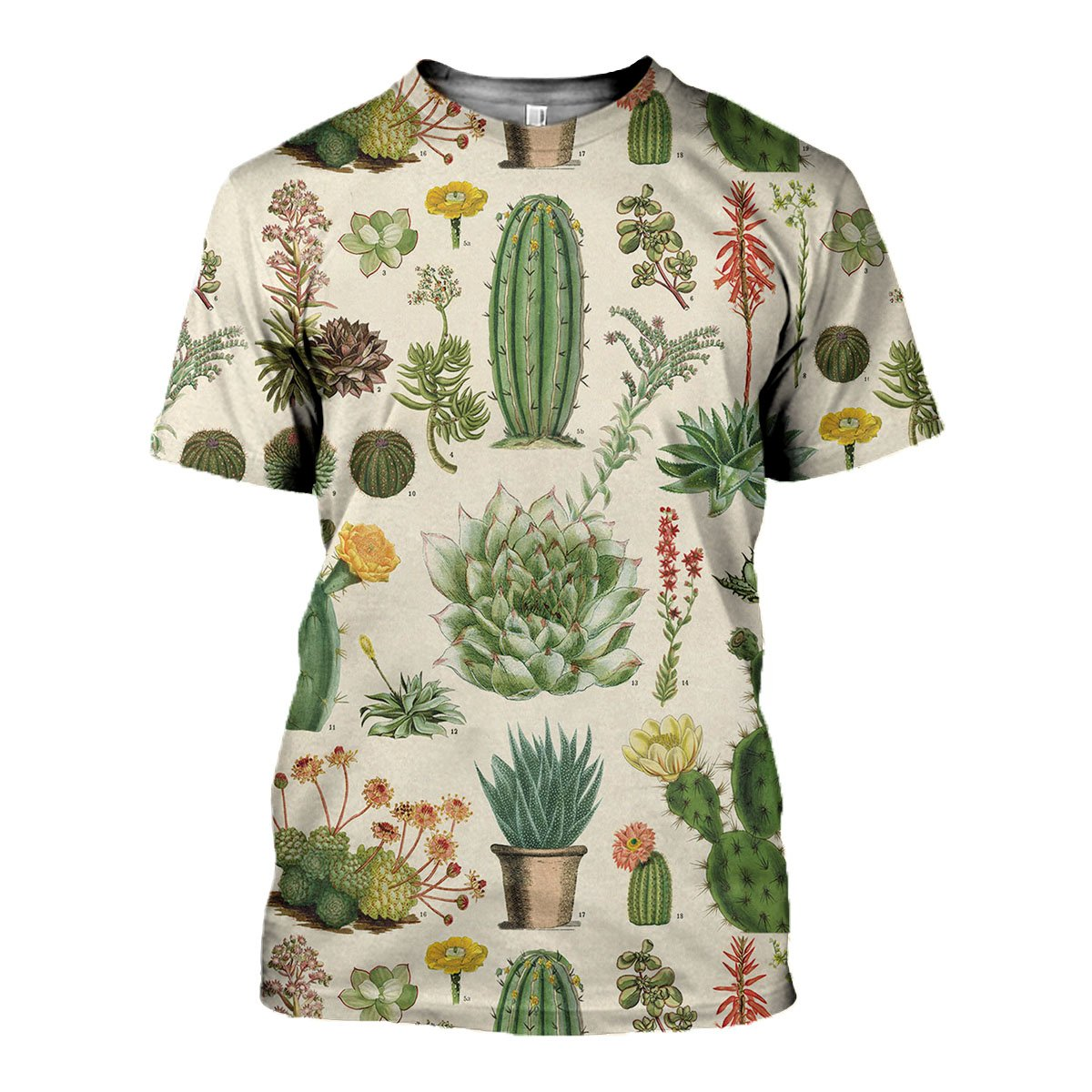 3D All Over Printed Succulent Shirts And Shorts - gopowear.com