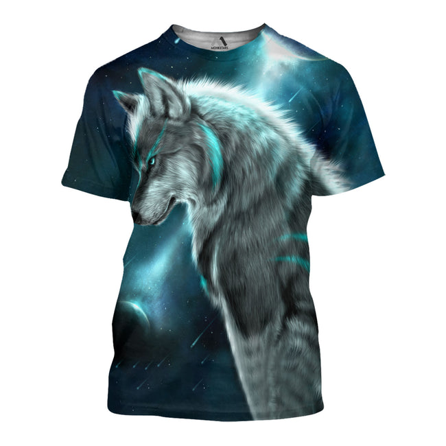 3D All Over Printed Love Wolf T-shirt Hoodie