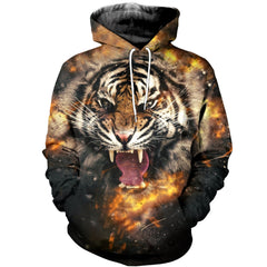 3D printed Angry Tiger T-shirt Hoodie ATL230302 - gopowear.com