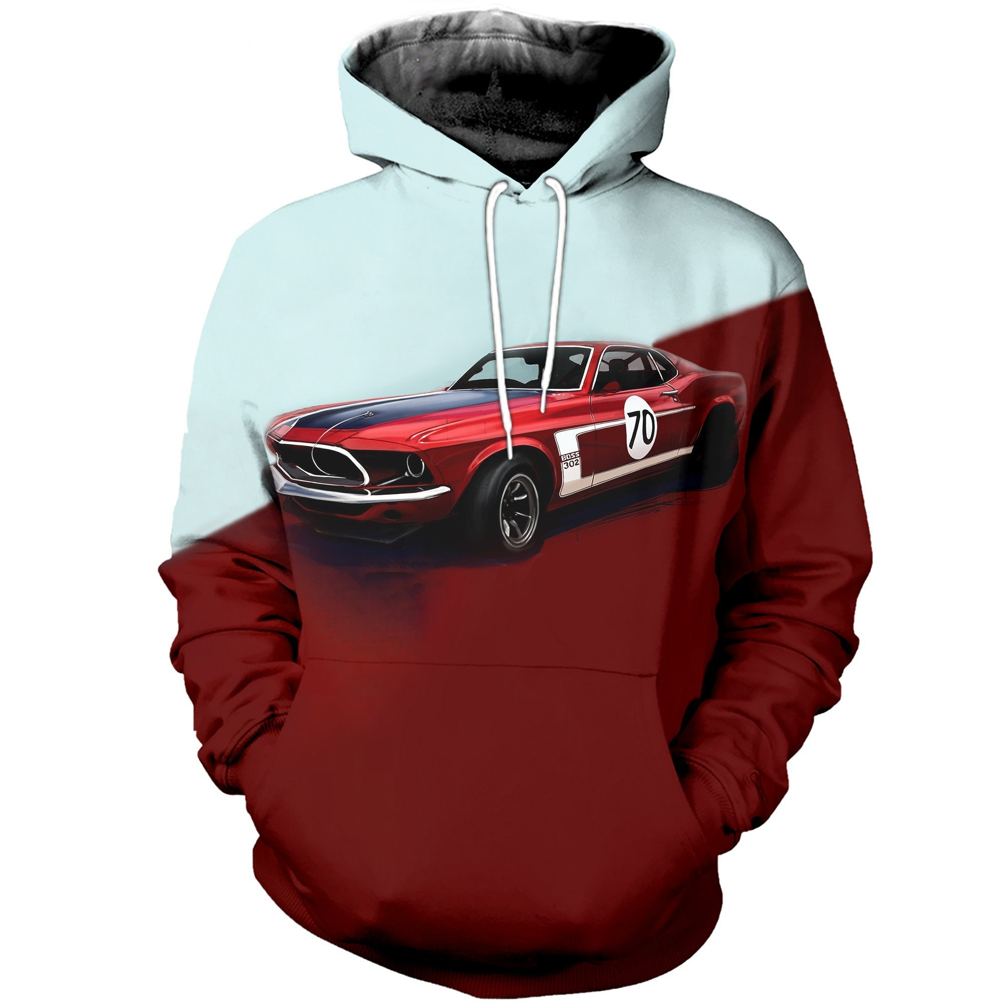 3D printed Muscle car T-shirt Hoodie SATL060409